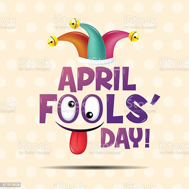 April Fools Day Typography Colorful Flat Design Stock Illustration - Download Image Now