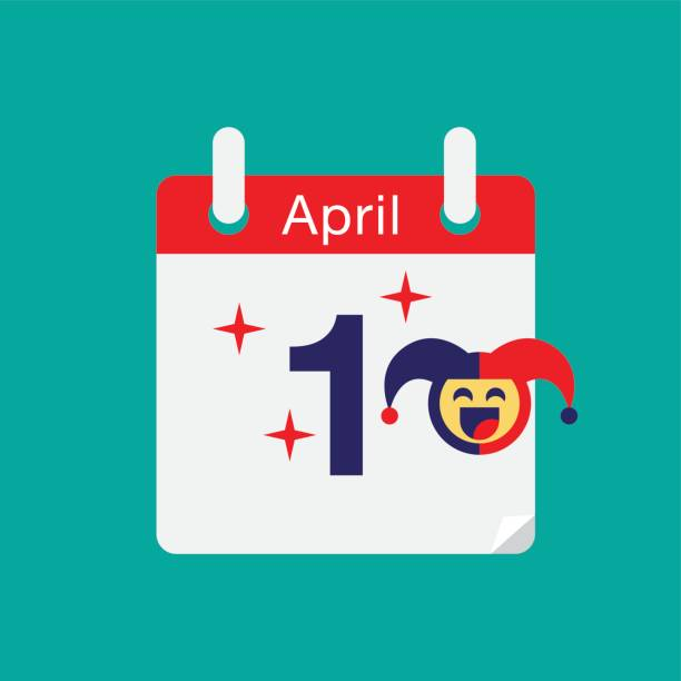 April fool's day, Typography, Colorful, flat design, vector illustration. vector art illustration