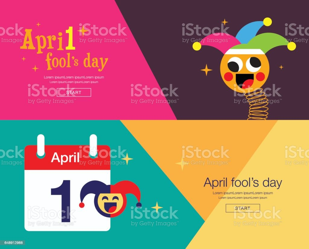April fool's day, Typography, Colorful, flat design, vector illustration. vector art illustration