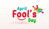 April fool's day, Typography, Colorful, vector illustration. stock illustration