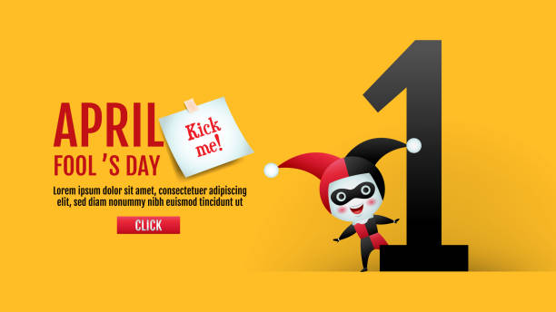 April fool's day, Typography, Colorful, vector illustration. April fool's day, Typography, Colorful, vector illustration. april fools day stock illustrations