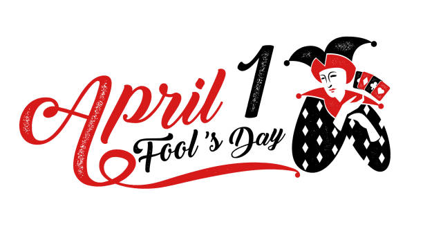 1, April fool's day, Typography, Colorful, vector illustration. vector art illustration