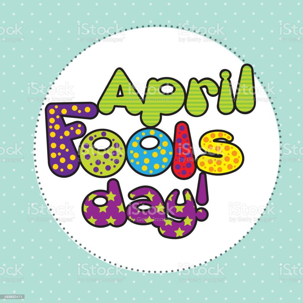 april fools day vector art illustration