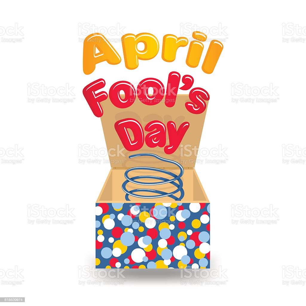 April Fool's Day vector art illustration