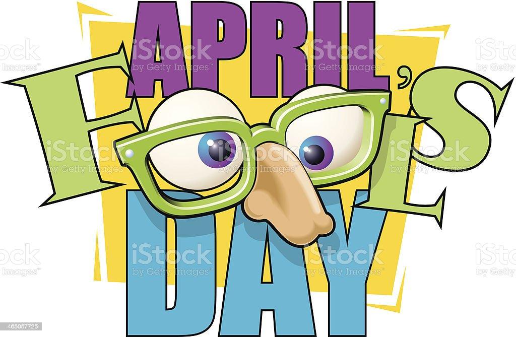 April Fools Heading C vector art illustration