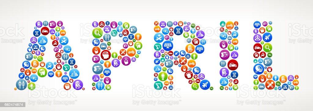Botones de Vector de futuro y futurista de la tecnología de abril. ilustración de botones de vector de futuro y futurista de la tecnología de abril y más banco de imágenes de abril libre de derechos