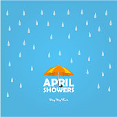 April Shower Vector Design Template