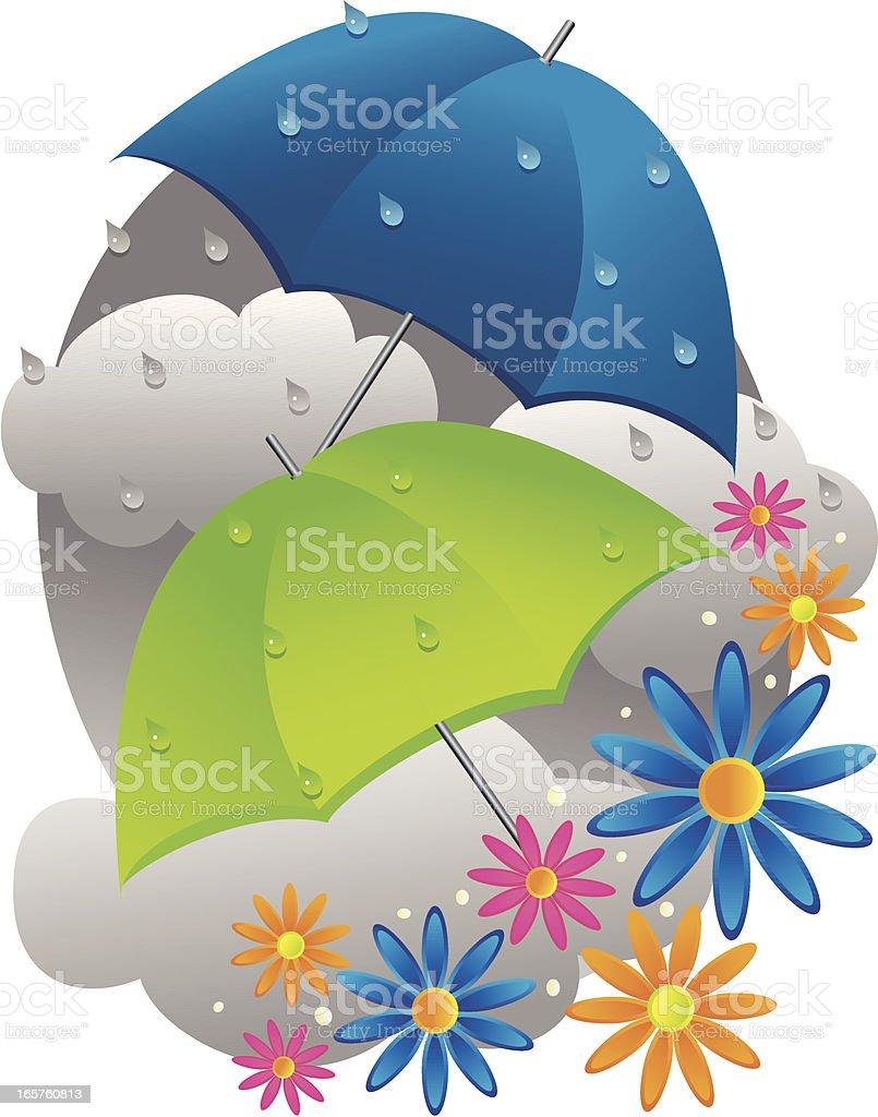 4 月のにわか雨は 5 月の花 イラストレーションのベクターアート素材や