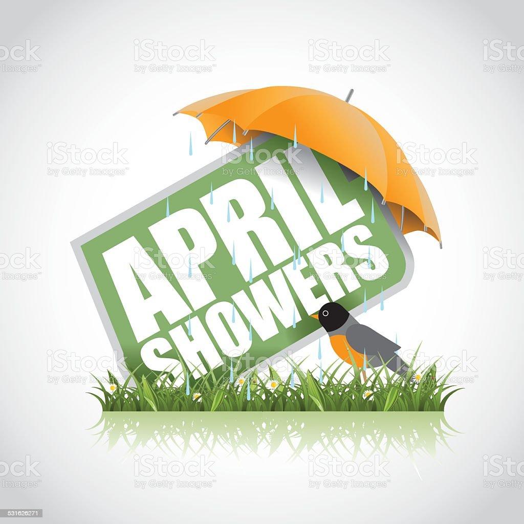 April showers icon stock illustration vector art illustration