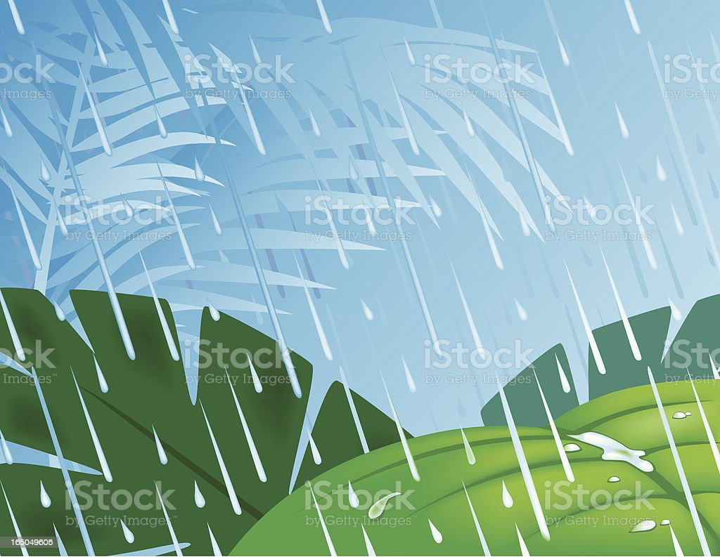 April Showers royalty-free stock vector art