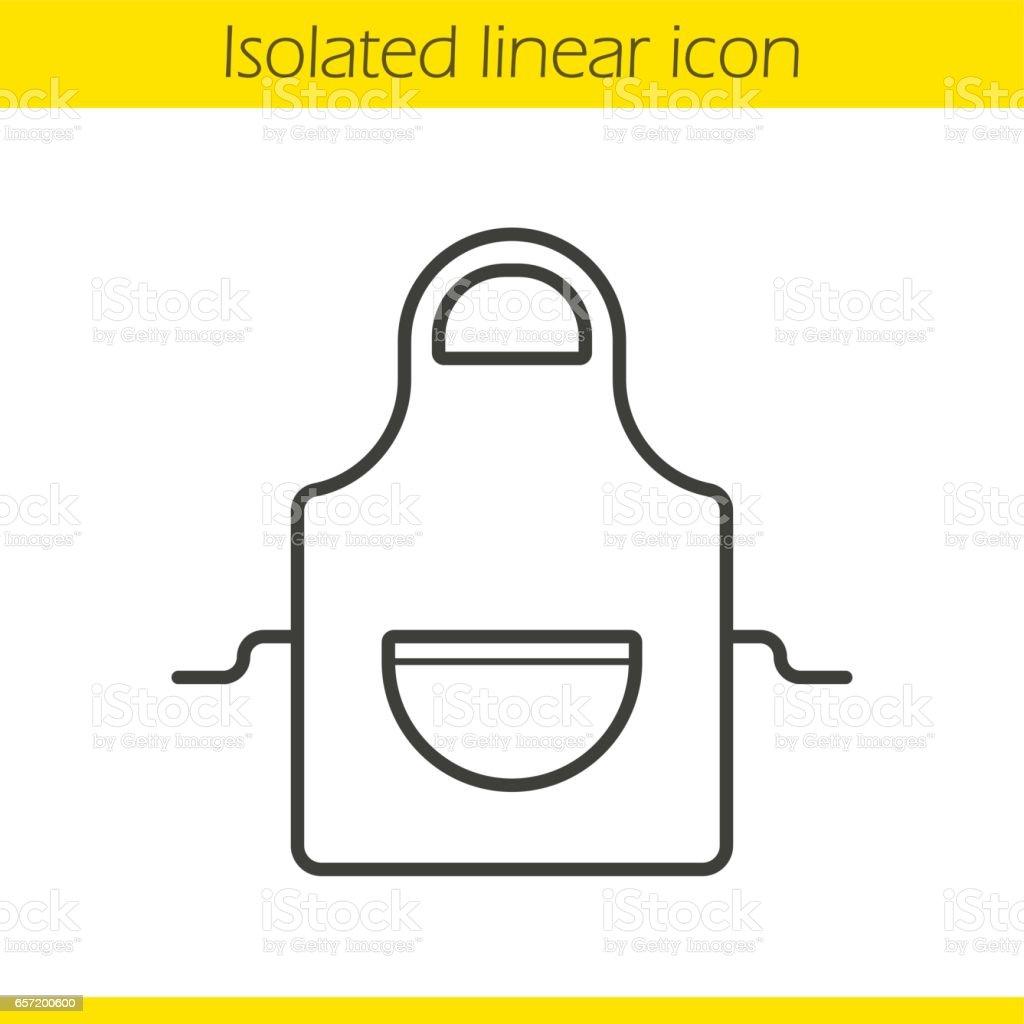 Apron icon vector art illustration