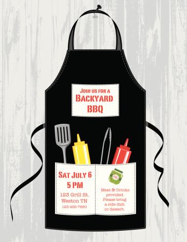 BBQ Apron Invitation