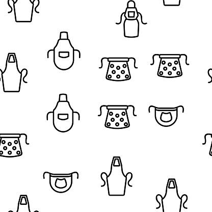 Apron Kitchen Cloth Vector Seamless Pattern