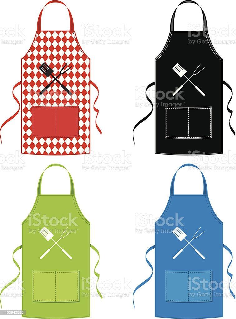 BBQ Apron Set vector art illustration