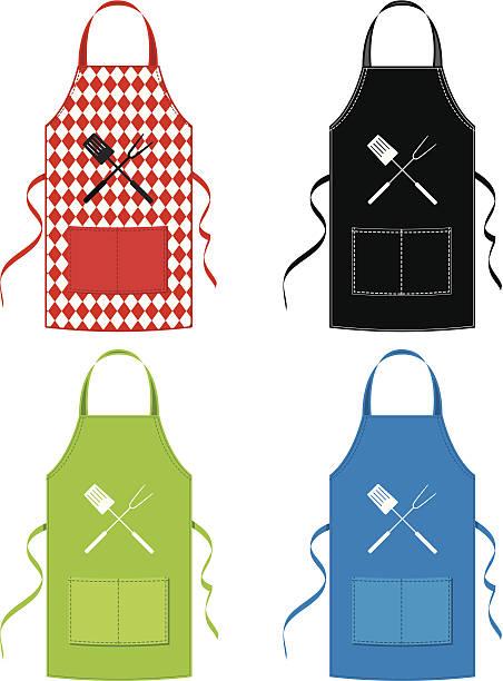BBQ Set Grembiule - illustrazione arte vettoriale