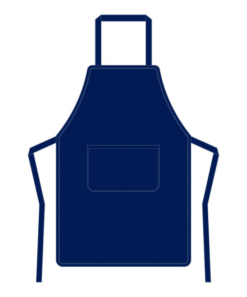 Apron Vector for Template Navy Color apron stock illustrations