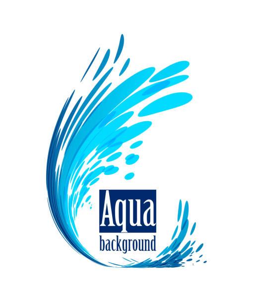 aqua background, splash water on white - fontanna stock illustrations