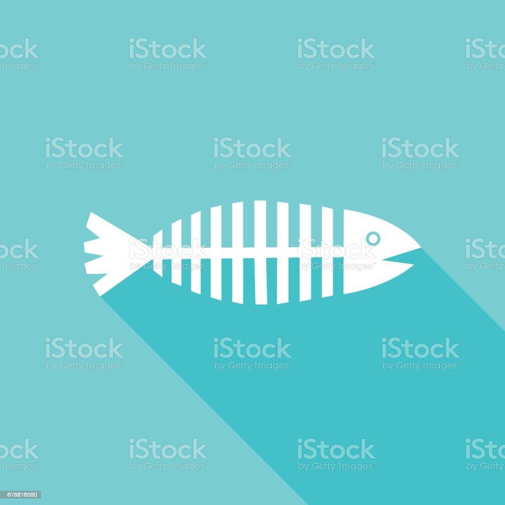 Aqua Fish Icon vector art illustration