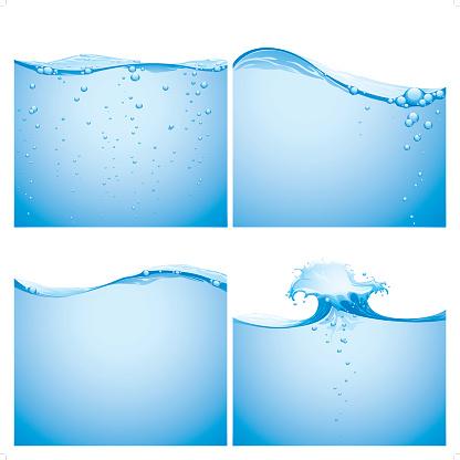 aqua splashing background
