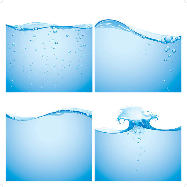 aqua splashing background vector art illustration