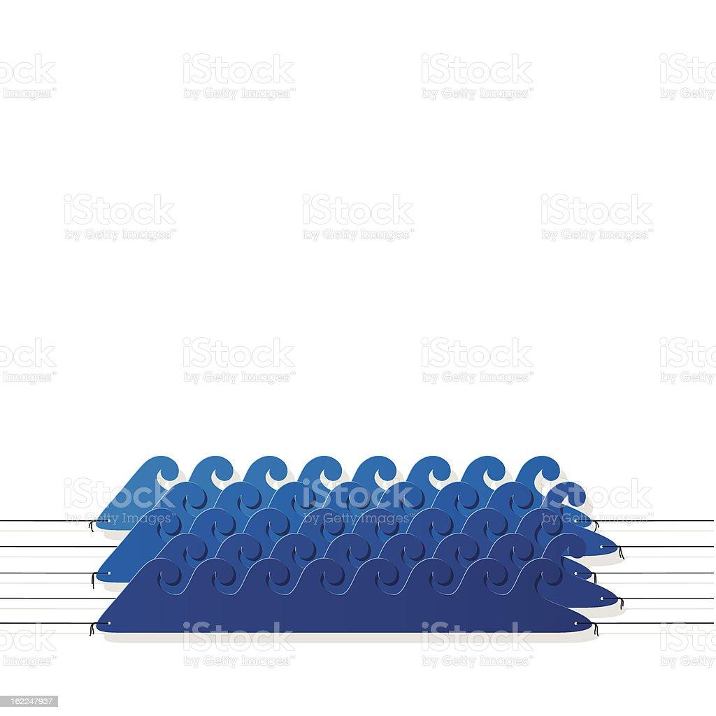 aqua style sticker on the ropes royalty-free stock vector art