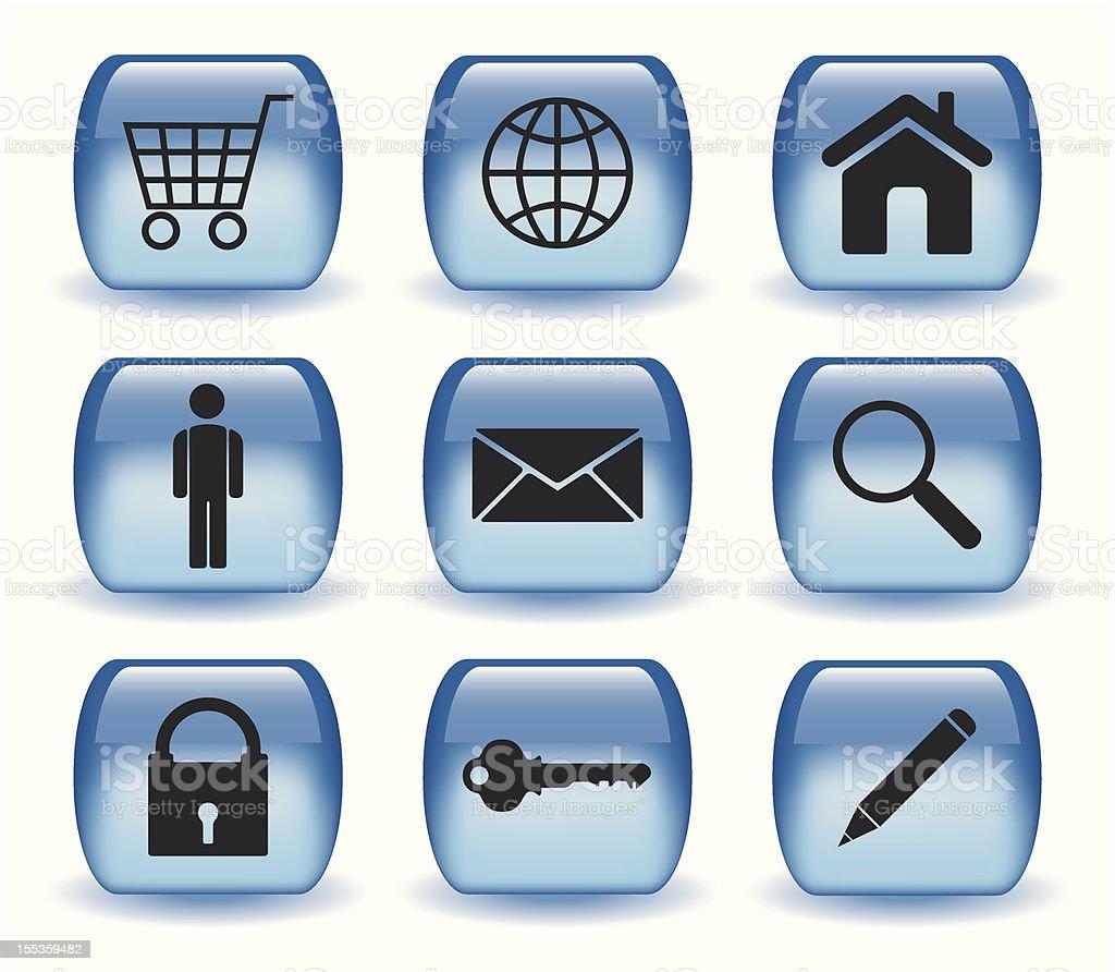 Aqua Style Web Icons - I royalty-free stock vector art