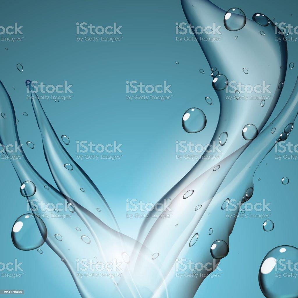 Aqua Water Splash In Dynamics Template vector art illustration
