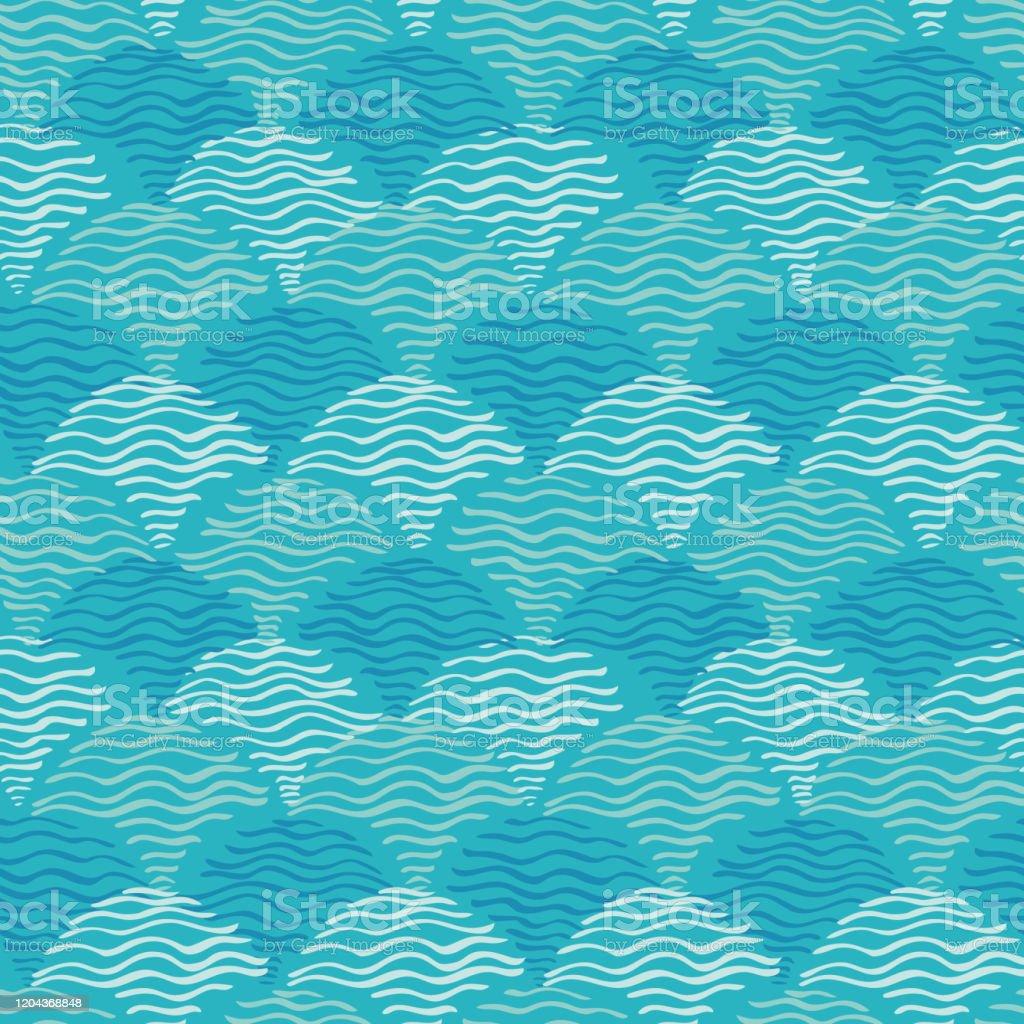 アクア波の背景シームレスなブルーウォーターリップルパターン生地壁紙