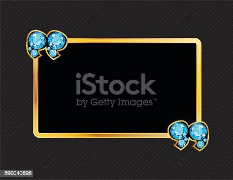 istock Aquamarine Jeweled Speech Bubble 596040898