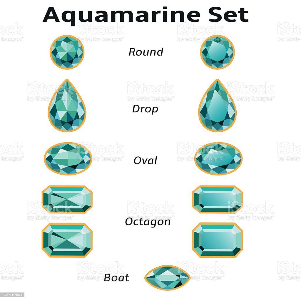 Aquamarine juego con texto - ilustración de arte vectorial