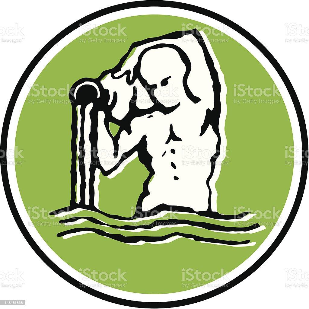 Aquário - 3/12 - ilustração de arte vetorial