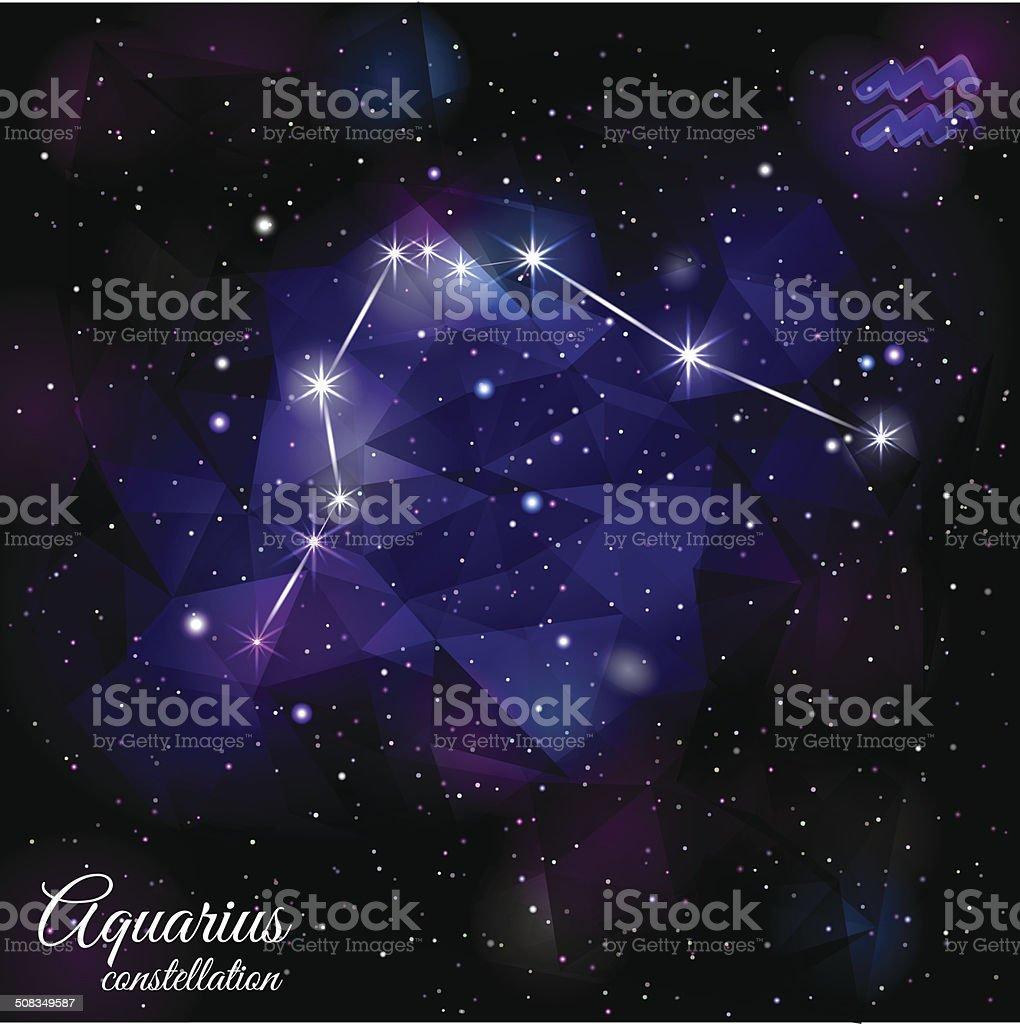 водолей созвездие с треугольной фоне стоковая векторная графика и