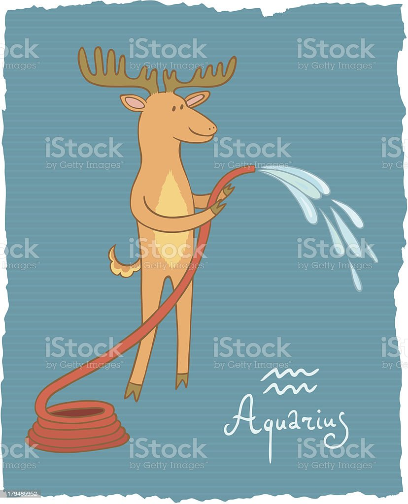 Aquarius royalty-free stock vector art