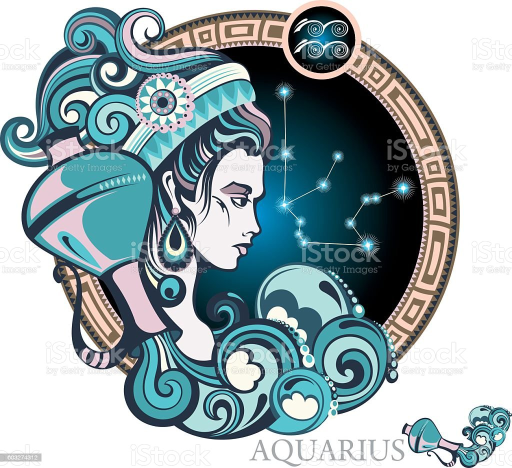 Aquarius vector art illustration