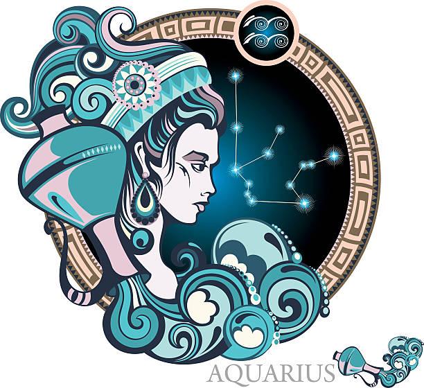 Aquarius vector art illustration