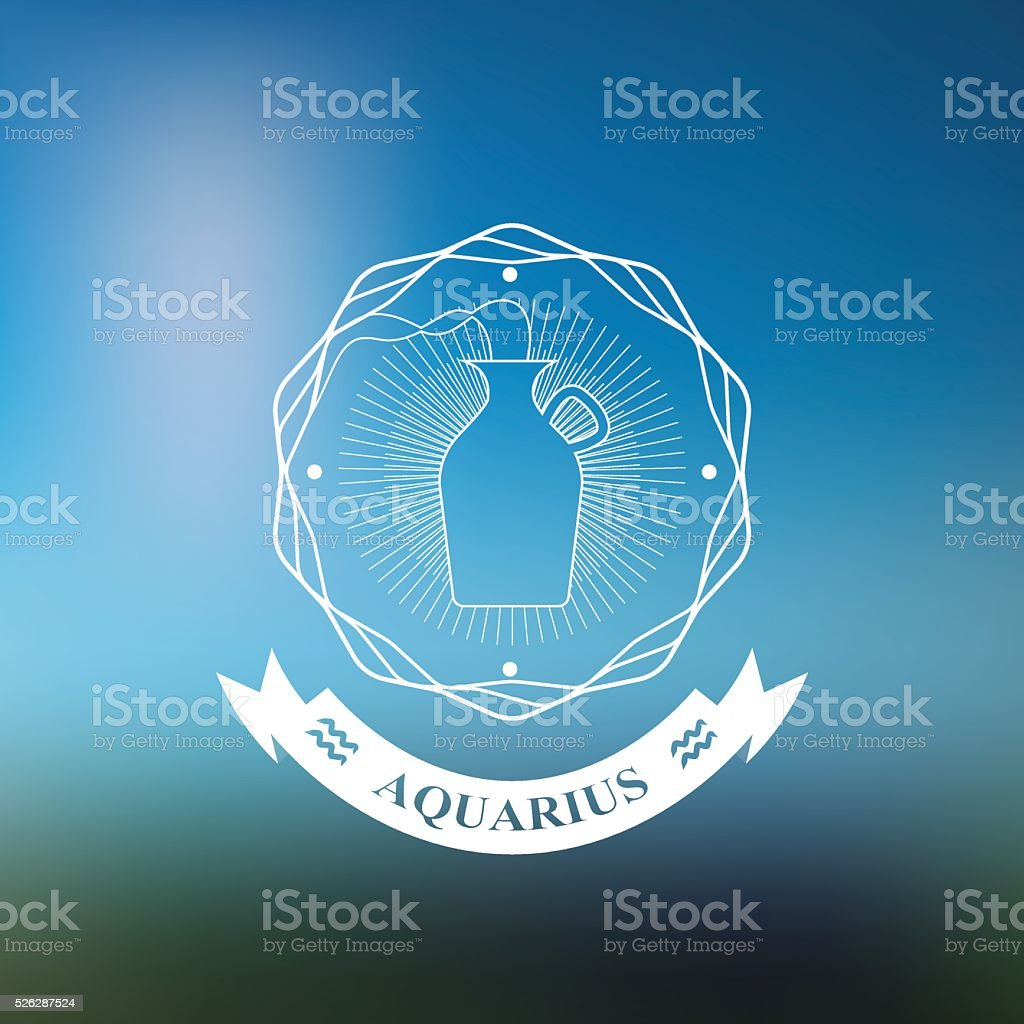 Signe Du Zodiaque Verseau Horoscope Tatouage Badge Vintage