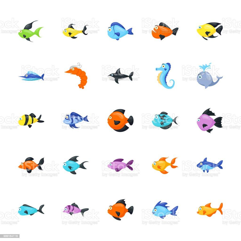 Aquatic Animals Pack vector art illustration