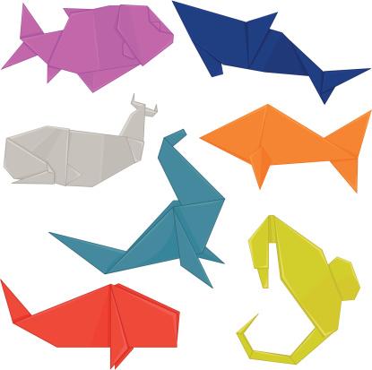 Aquatic Origami Animals