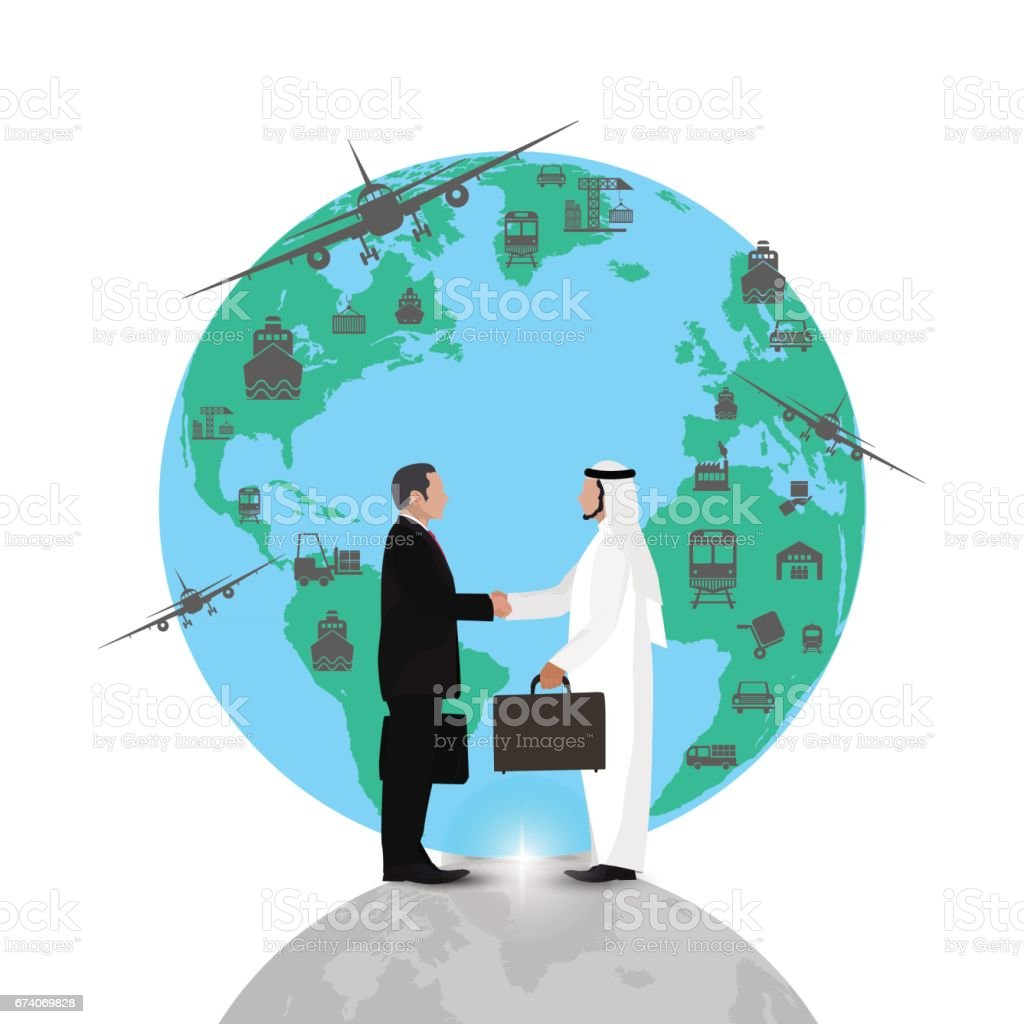 arab businessman people handshake meeting,on world background flat design.concept royalty-free arab businessman people handshake meetingon world background flat designconcept stock vector art & more images of adult
