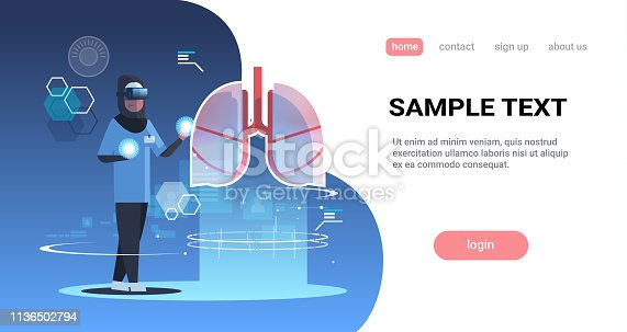 864464934istockphoto arab doctor nurse wearing digital glasses looking virtual reality lungs human organ anatomy medical vr headset vision concept clinic room interior full length horizontal copy space 1136502794