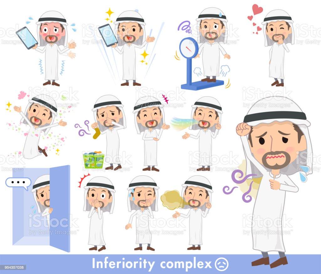 Arab Kandura wearing men_complex vector art illustration