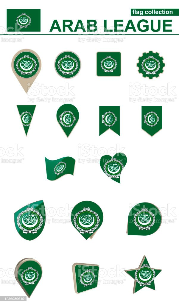 Picture of: Arab League Flag Collection Big Set For Design Stock Illustration Download Image Now Istock