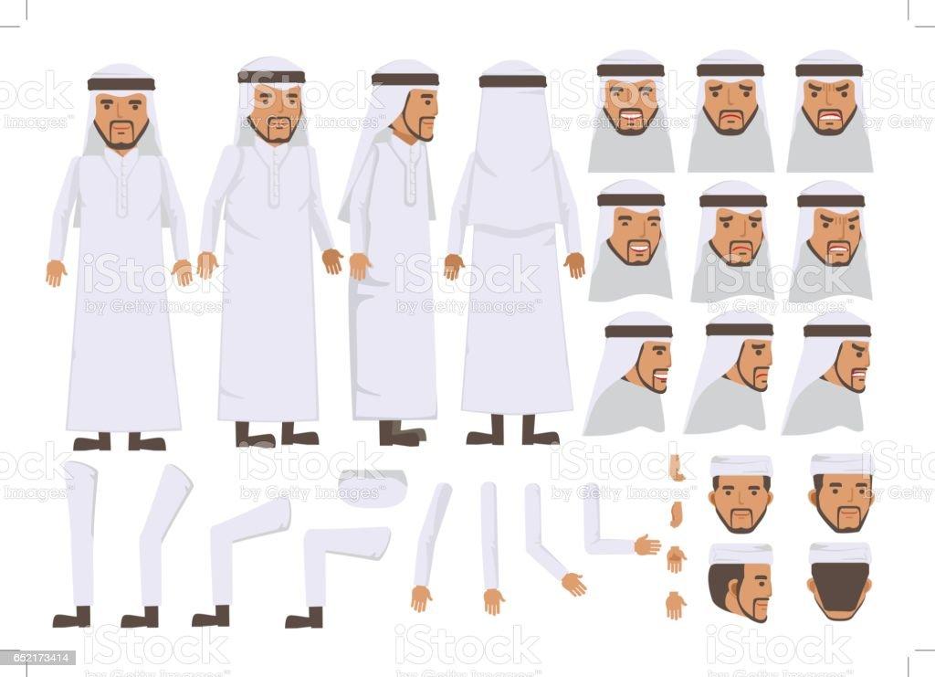 Arab Man vector art illustration