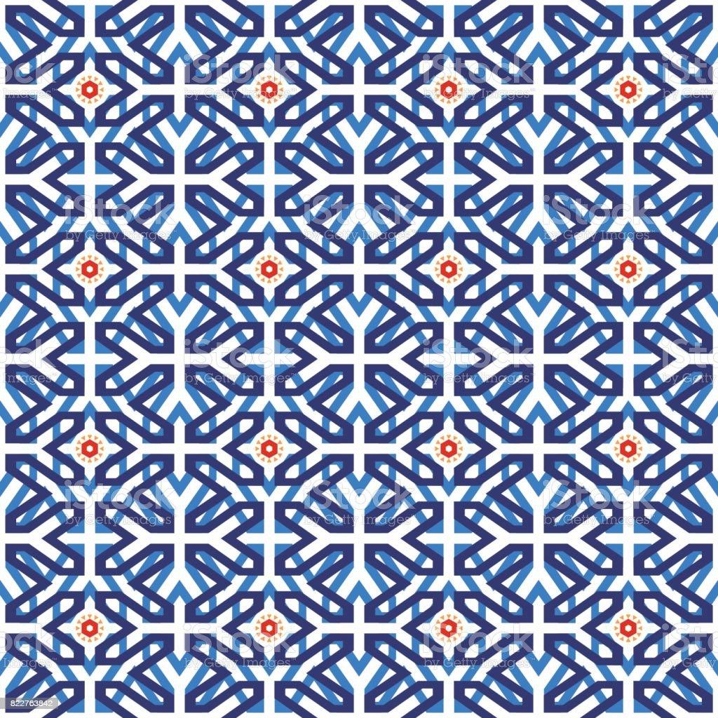 Arab Muslim Mosaic Tile Vintage Seamless Pattern Stock Vector Art ...