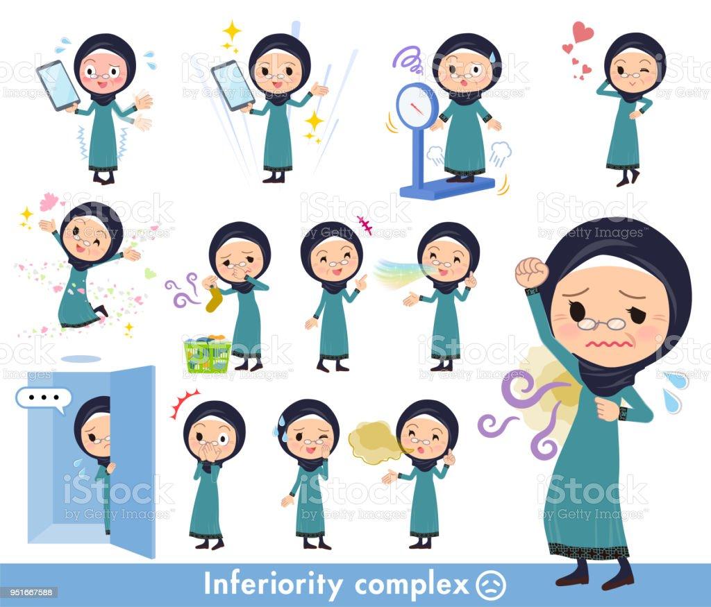 Arab old women_complex vector art illustration