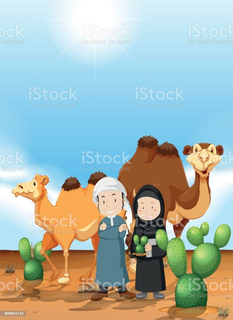 Arab people and camel on the desert ground royalty-free arab people and camel on the desert ground stock vector art & more images of adult