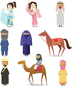 Arab people character collection.