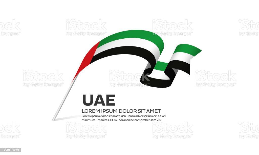 아랍에미리트 연합 국기 배경 - 로열티 프리 0명 벡터 아트