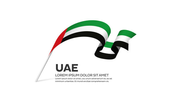 Arab United Emirates flag background Arab United Emirates, flag, country, vector, icon national holiday stock illustrations