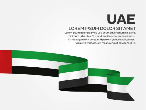 阿拉伯聯合大公國旗幟背景 - uae flag 幅插畫檔、美工圖案、卡通及圖標